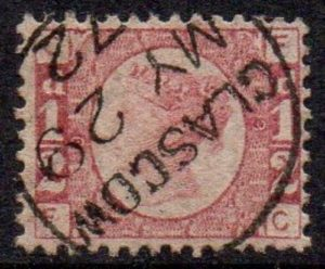 QV sg48 ½d rose-red (F-C) Plate 9 with fine 1872 Glasgow cds