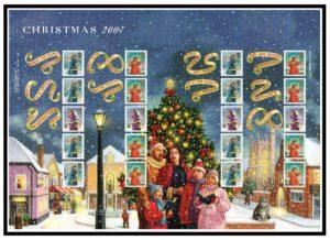 2007 Christmas Smiler sheet LS42