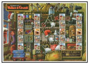2010 Christmas with Wallace & Gromit Smiler sheet LS75