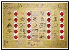2011 350th Anniversary of the Postmark Smiler sheet LS78