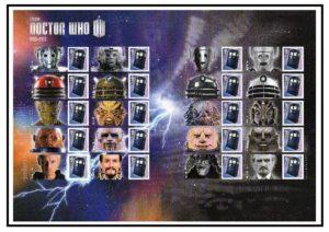 2013 Doctor Who Smiler sheet LS85