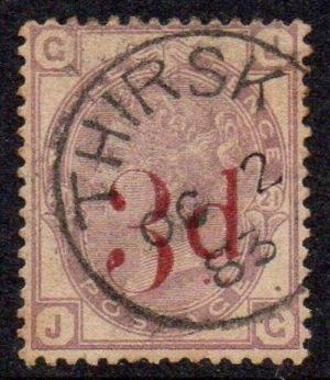 QV sg159 3d on 3d lilac with fine 1883 Thirsk cds